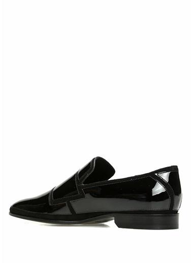 Jimmy Choo Deri Smokin Ayakkabısı Siyah